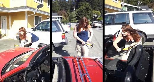 Elle casse la voiture de son ex mari coups de marteau - Provoquer une fausse couche naturellement ...